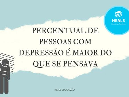PERCENTUAL DE PESSOAL COM DEPRESSÃO É MAIOR DO QUE SE PENSAVA