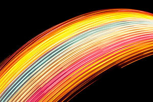 Regenbogen-Licht-Kunst
