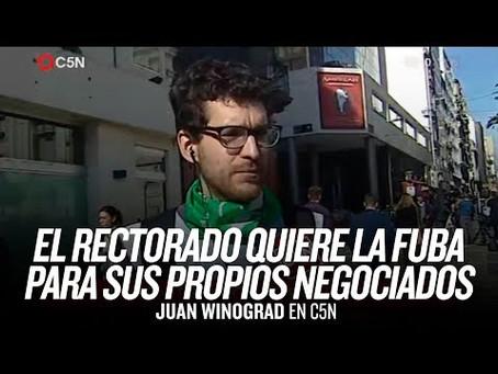 """Juan Winograd: """"Este es el camino, y hay que seguirla"""""""