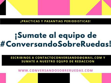 #ConversandoSobreRuedas convoca a jóvenes periodistas y comunicadores