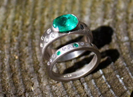 Stand out from the crowd with a bespoke wedding ring.