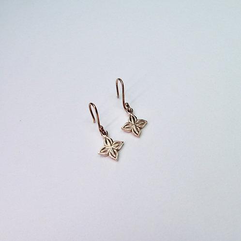 Anahita 2  earrings in 9ct rose gold