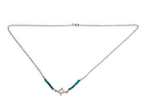 Anahita 2 necklace in silver with turquoise beads