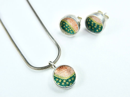 Remnant ear studs or necklace