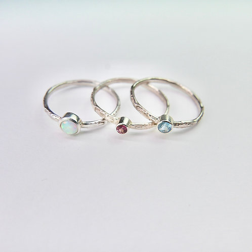 Sundar rings with recycled and ethical gemstones