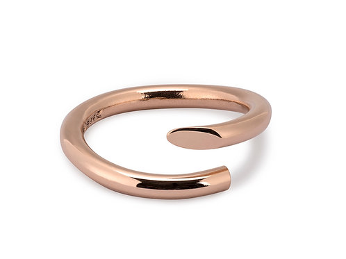 Twist Ring in 9ct rose gold