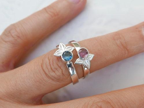 Anahita recycled gem stone rings