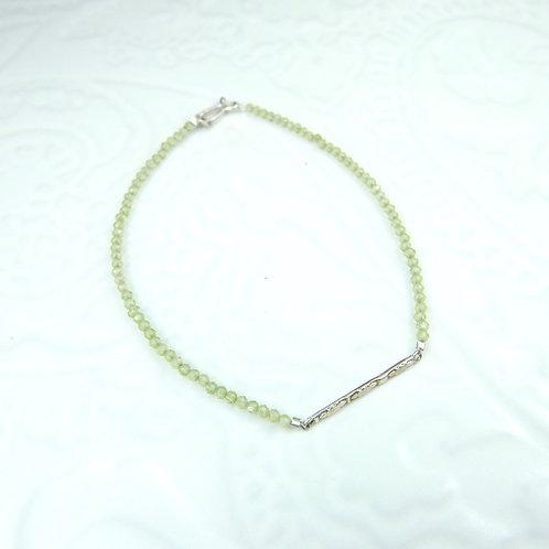 Sundar bracelet in silver and peridot