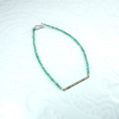 Sundar bracelet in silver and jade