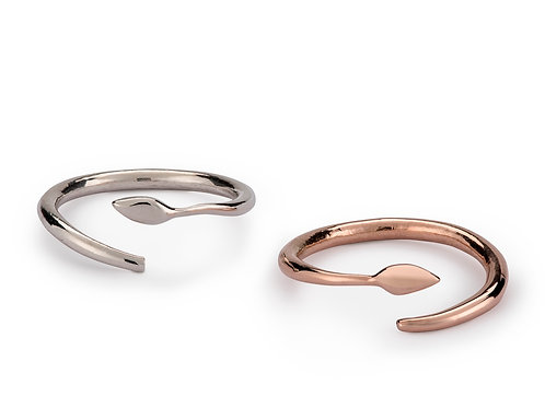 India Twist ring in silver