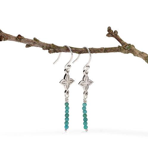 Anahita 2 earrings with turquoise beads
