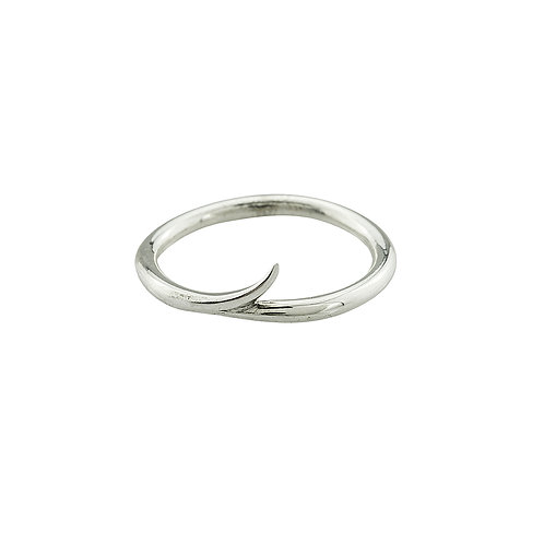 India Flick ring in silver
