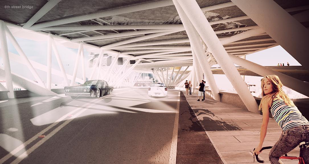 LA RIVER - 6TH STREET BRIDGE