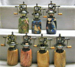 Antique pepper mills