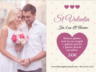 Offre St Valentin : LE cadeau idéal, une séance photo.
