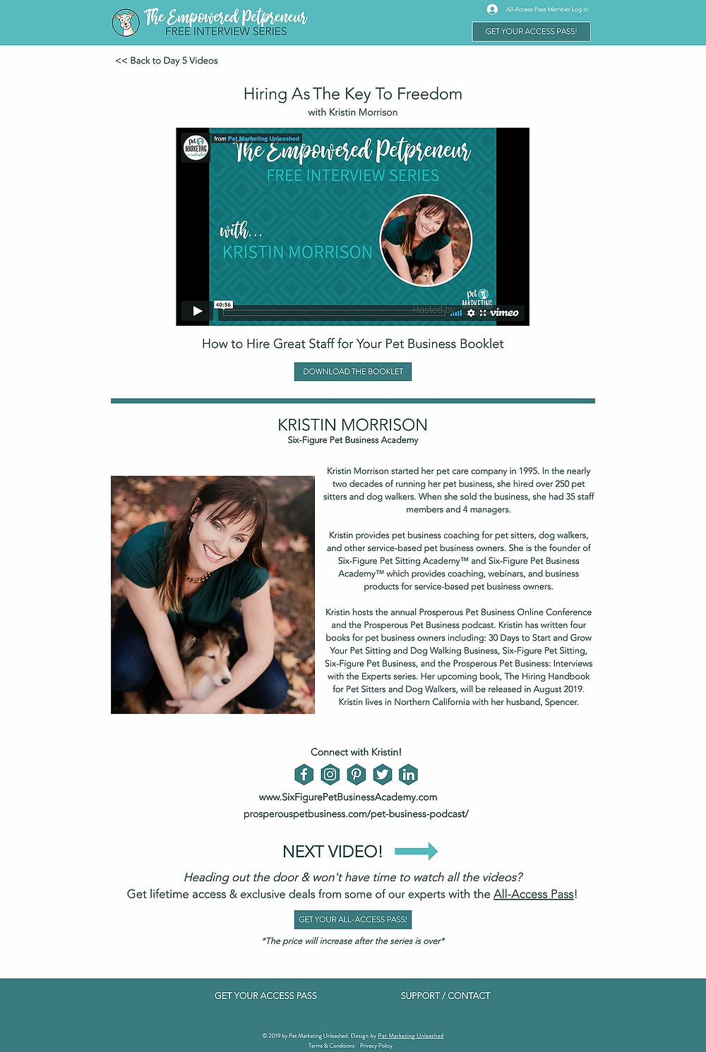 Kristin Morrison | Pet Business Academy | Empowered Petpreneur Online Summit | Hiring In Your Pet Business