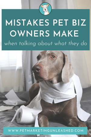 Mistakes Pet Business Owners Make When Talking About What They Do