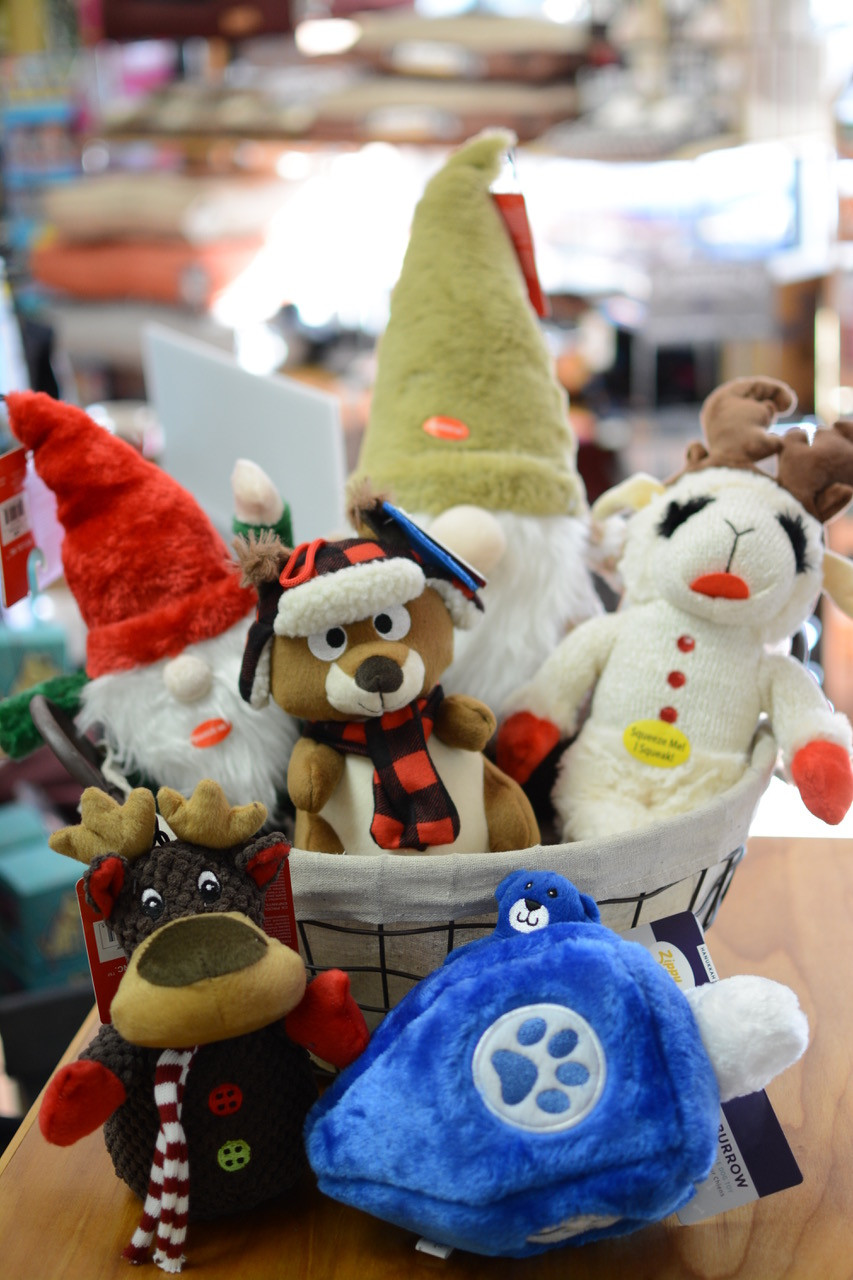 Holiday gift ideas for pet lovers and pets in draper and mill creek, Salt Lake City - dog toys!