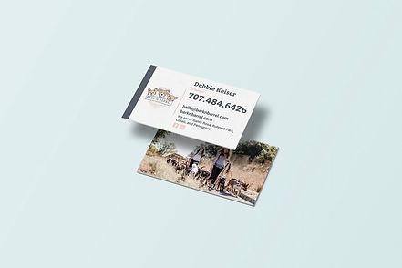 Bark N Barrel dog walker business card d