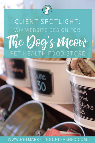 My Wix Website Design Process for The Dog's Meow Pet Health Food Store (eTailPet Feature)