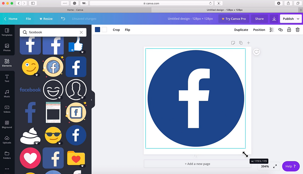 Facebook Social Media Icon Free in Canva Tutorial | Pet Marketing Unleashed | Pet Businesses
