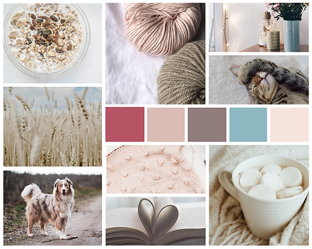 Hugs N' Belly Rubs Mood Board Pet Business Branding
