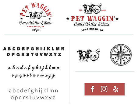 pet waggin branding typography for pet businesses