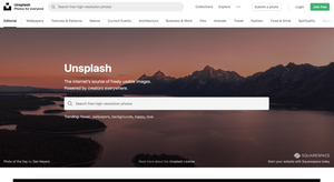 Unsplash for pet stock photography