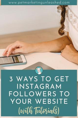 3 Ways to Get Instagram Followers to your Pet Business Website (with Instagram Tutorials)