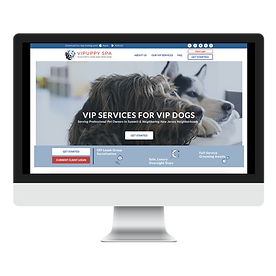 VIPuppy Spa Doggie Daycare Boarding and Grooming Branding And Website Design New Jersey