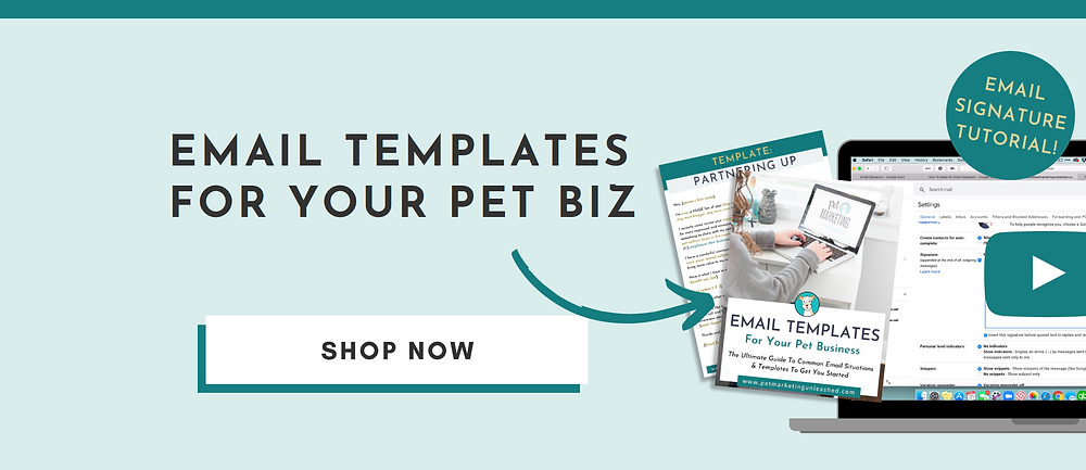 email templates for your pet business | Pet Marketing Unleashed