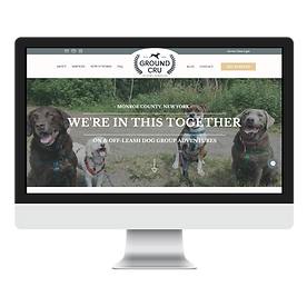 Ground Cru dog walker website design