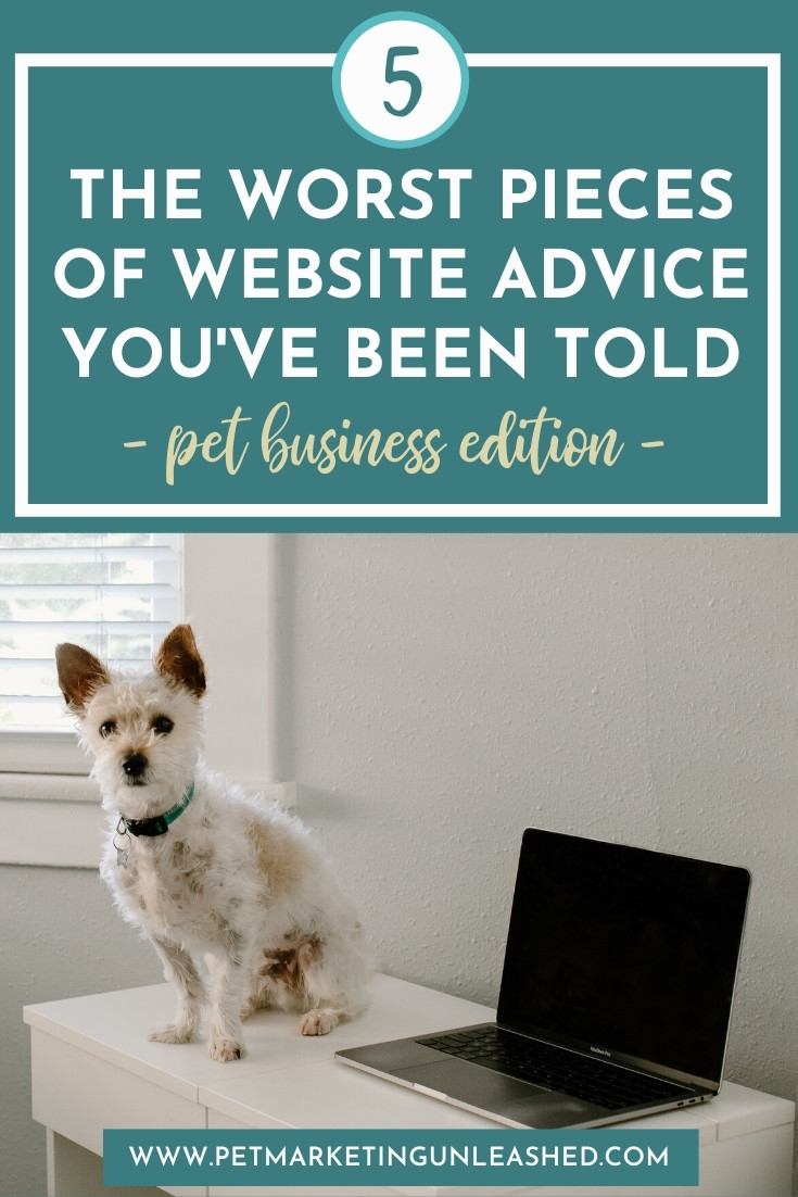 5 worst pieces of website advice you've been told for the pet industry | Pet Marketing Unleashed | pet business tips