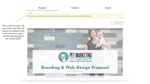 Dubsado proposals, contracts, and invoices for pet photographers