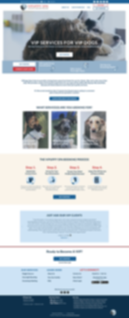 doggie daycare and boarding and grooming logo, branding, and web design project