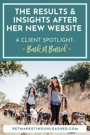 Client Spotlight: Results & Insights After Custom Website Design with Bark N Barrel