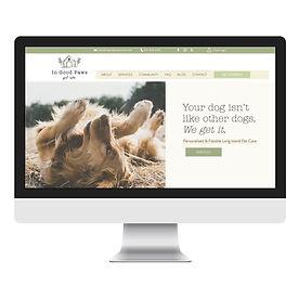 Pet Care Website Design - In Good Paws -