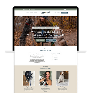 Pet Sitter website template example