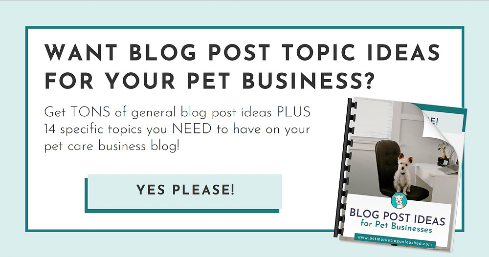 pet business blog post ideas