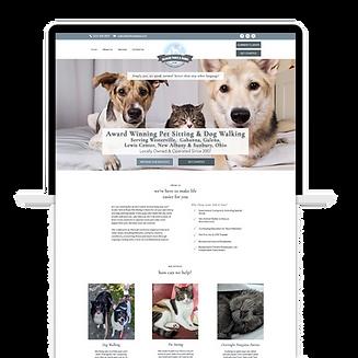 dog walker pet sitter website template e