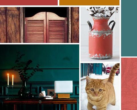 pet waggin' pet care web design mood board