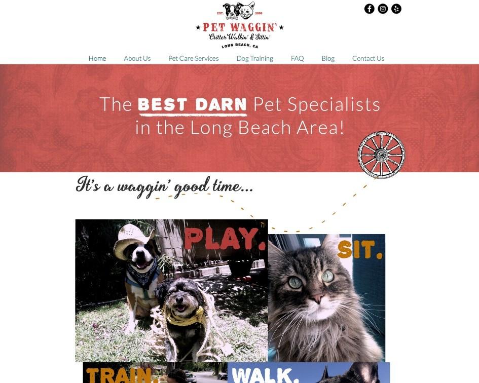 Logo, Branding & Website Design For Pet Waggin' Pet Care | Pet Marketing Unleashed