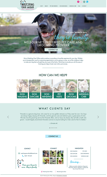 Watching Over Wilbur Website For Pet Businesses Pet Marketing Unleashed
