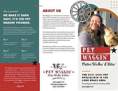Pet Sitter Brochure Design for Pet Waggi