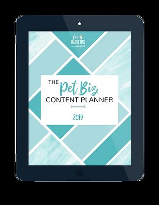 pet business content planner, marketing planner for pet buinesses, content planner