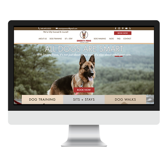smarty paws canine care web design