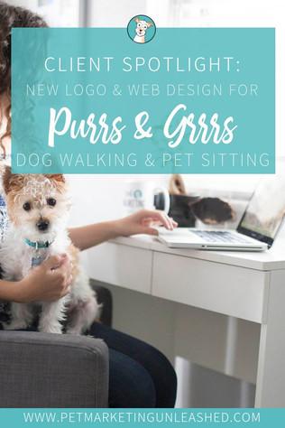 Logo & Website Design For Purrs & Grrrs Dog Walking & Pet Sitting
