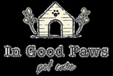 In Good Paws Pet Care Logo design