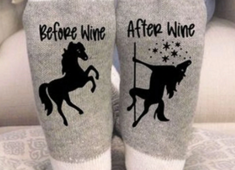 Two (2) Pair-Lovers of Wine and Horses Sox