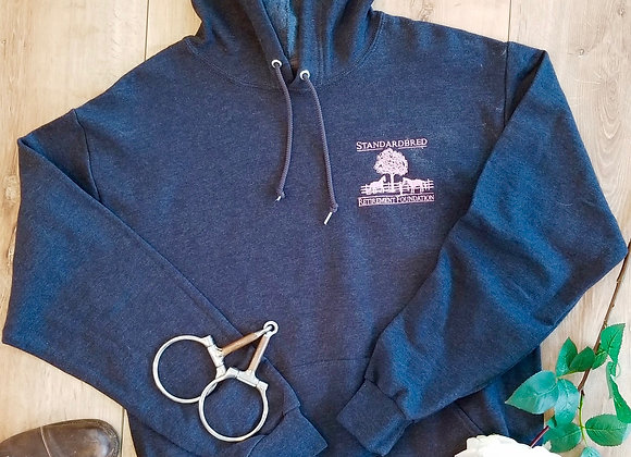 Unisex Hoodie! Navy and Soft Pink